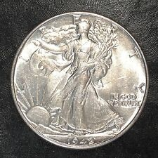 1942 Walking Liberty Half - Nearly Uncirculated - High Quality Scans #E991