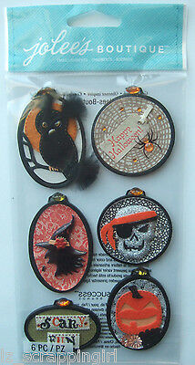PRINTED EMBROIDERY HOOPS~ Jolee's Boutique Dimensional Stickers; HALLOWEEN items