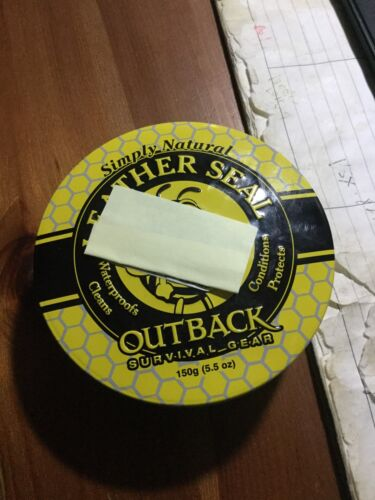 OUTBACK LEATHER SEAL CONDITIONER, Beeswax, Equestrian Tack, Natural 5.5 oz Tin