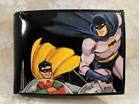 Batman And Robin Decorated Leather Wallet M173