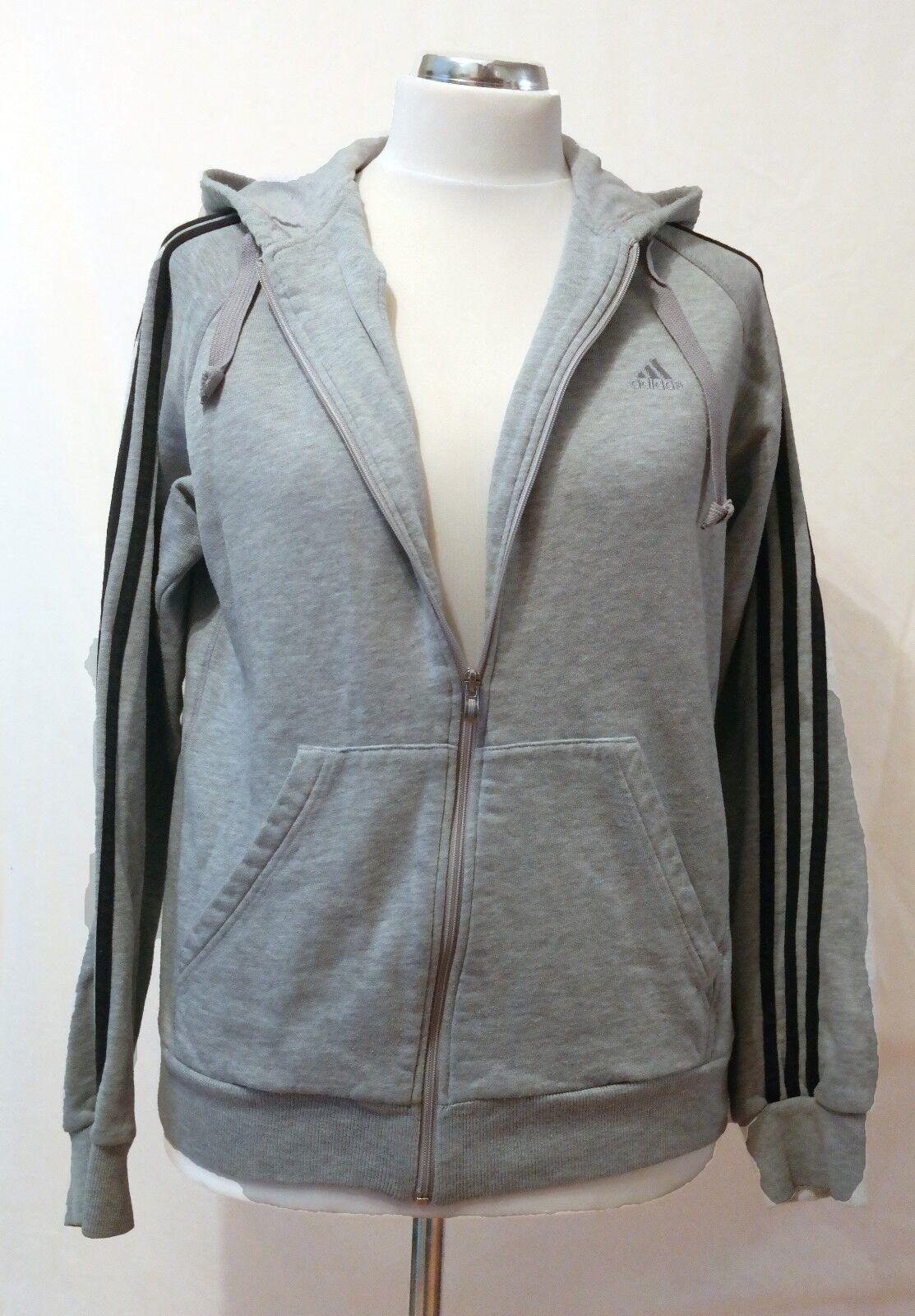 Adidas Mens Full Zip 3 Stripe Hooded Sweatshirt Sweatshirt Sweatshirt grau Größe Large | Qualitätskönigin  d607b9