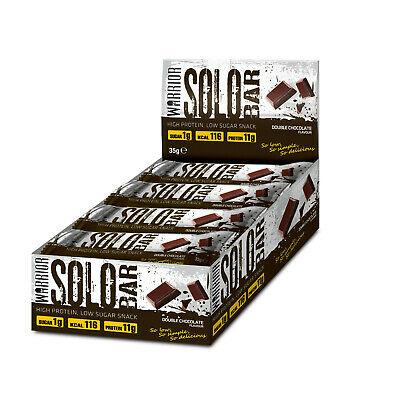 Warrior Solo Protein Bars 35g x 12 High Protein Low Carb Diet Protein Snack Bar