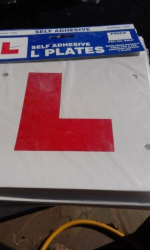 SELF ADHESIVE Learner Driver L PLATE STICK ON OR TIE ON Pair