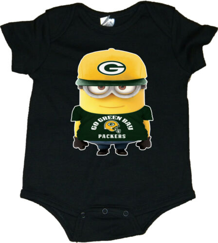Green Bay Packers Minion Baby Bodysuit//Creeper
