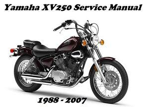 yamaha xv250 virago xv 250 service maintenance repair rebuild manual rh ebay com Yamaha Virago 250 Fog Lights Virago 250 Cafe