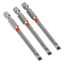 Bit Sets AK210517 Sealey Power Tool Bits Slotted 5mm Colour Coded S2 75mm 3pc