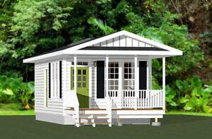 14x28 kleines Haus -- 391 SQ FT -- PDF Grundrißzeichnungen -- Modell 2b