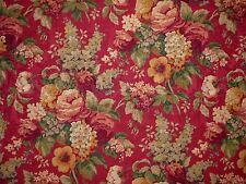Mill Creek Raymond Waites ANTIQUE GARDEN Floral CRIMSON Drapery Jacquard Fabric