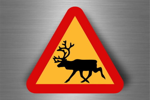 Sticker decal warning car fridge road sign warning deer r2