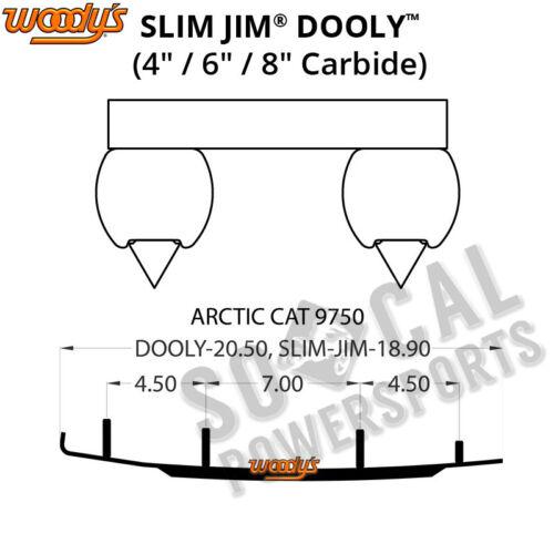 "Woody/'s Dooly 4.0/"" Carbide Runner Arctic Cat Bearcat 550 1995-1996"