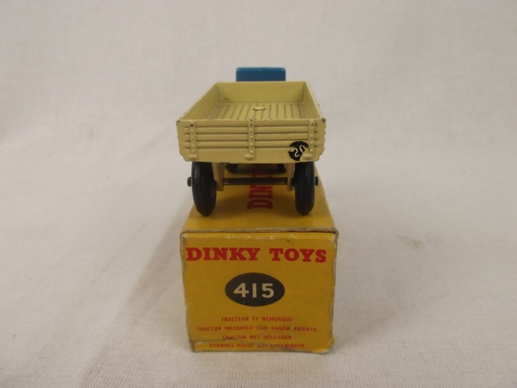Boxed Dinky Toys 415 Mechanical Horse With Open Wagon Wagon Wagon 1954-1959 5e969f
