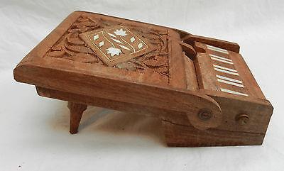Inlaid Wooden Piano Shape Cigarette Box - Stash Box - BNWT