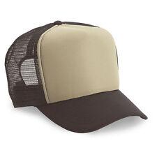 Wholesale Lot 12 Brown White Trucker Hats Blank Mesh Adjustable Snapback Browns