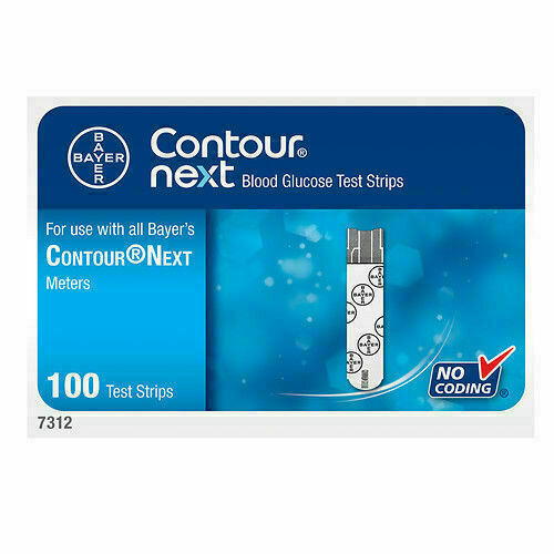 Contour Next Blood Glucose Test Strips, 50 Count - 2 Pack Expires 03-2022 - $25.00