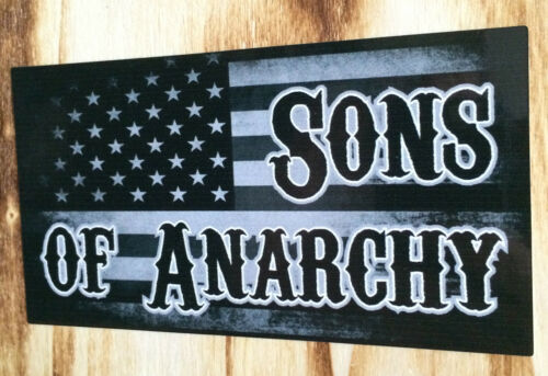 "Sticker Vintage Flag USA /"" Sons Of Anarchy /"" Retro Sticker Biker//Chopper 1/% US"