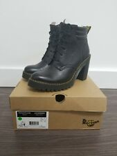 05cb8397e24d DR MARTENS WOMENS PERSEPHONE HEELED BOOTS AUNT SALLY BLACK 22409001 SIZE 11
