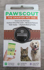 Medical Profiles No Monthly Fees Bluetooth, not GPS Pawscout Smarter Pet Tag: Dog /& Cat Community Pet Tracker Pet Points of Interest Walk Tracker Virtual Pet Leash