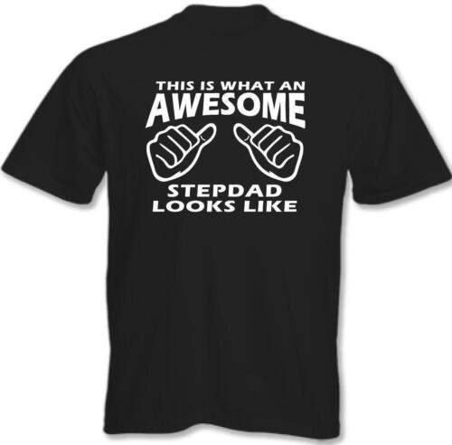 Awesome stepdad-T-shirt Homme Drôle Cadeau Fête des Pères Anniversaire