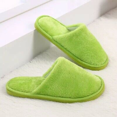 Details about  /2pc Home couple cotton slippers Silent anti-skid Winter indoor soft bottom Adult