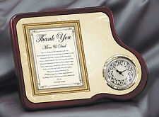 Parents Thank You Wedding Gift Clock From Bride Daughter to Mother Father Inlaws