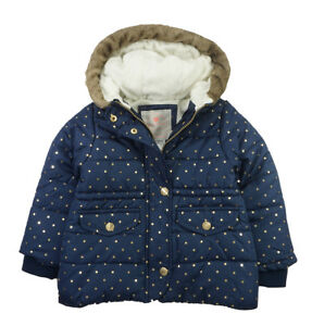 Carter/'s Girls Violet Parka Outerwear Jacket Size 4 5//6 6X