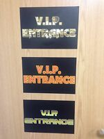 VIP Entrance Sign - Hollywood Party Decoration - VIP Choose Design & Quantity