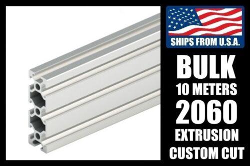 BULK 6mm T-Slot 10 Meters Custom Cut to Length 2060 Series Aluminum Extrusion