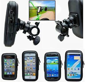 Waterproof Rotating Bicycle Motor Bike Handle Bar Holder Case For Mobile Phones