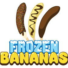 Frozen Bananas Concession Decal Sign Cart Trailer Stand Sticker Equipment
