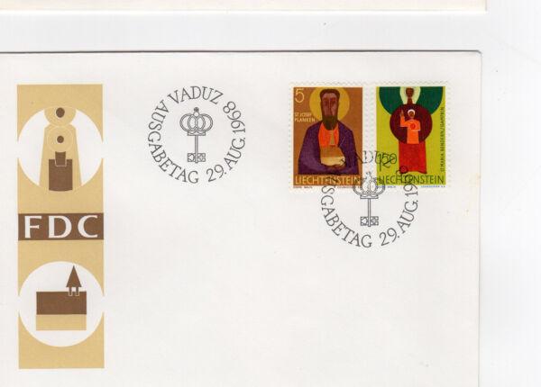 1968 Fdc Liechtenstein Vaduz /fdce33
