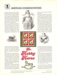 #104 13c Hobby Horse Christmas #1769 USPS Commemorative Stamp Panel