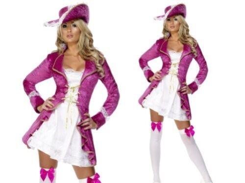 Adulti Rosa Tesroro Dei Pirati Costume Donna Lusso Vestito