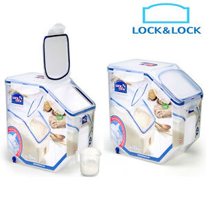 Image is loading Lock-&-Lock-Grain-Rice-Cereal-or-Pet-  sc 1 st  eBay & Lock u0026 Lock] Grain Rice Cereal or Pet Food Storage Container Bin ...