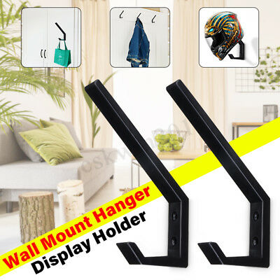 4Pcs Motorcycle Helmet Holder Jacket Hanger Hook Bags Wall Mount Display