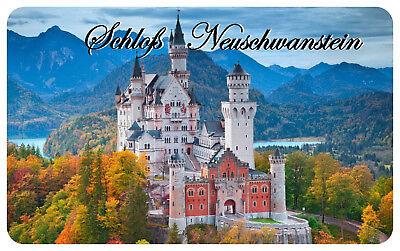 100% Vero Frigorifero Magnete, Calamita Scudo, Magnetico-castello Neuschwans Tein Ii-net, Magnetschild, Magnet - Schloss Neuschwanstein Ii It-it Ottima Qualità