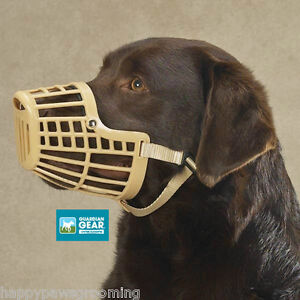 Guardian-Gear-DOG-Quick-Fit-Release-Training-Safety-HEAVY-DUTY-BASKET-MUZZLE-LG