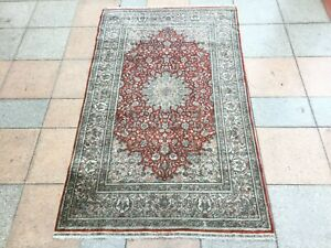 Tapis ancien Turkish Silk Rugs tappeto antico Turco alfombras Türkisch Teppich