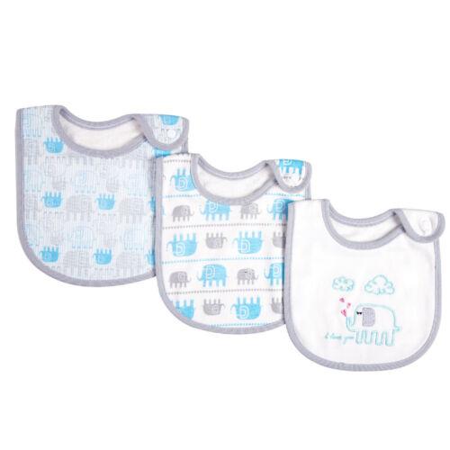 Cotton Baby Bibs Bandanna Soft Infant Feeding Burp Cloths Cartoon Saliva Towels