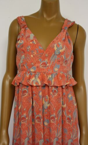 Sommerkleid Kleid Orange Maxi Neu Womens Seide Ret French Connection 228 Pink Xw7xqS
