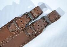 Genuine Leather Shotgun Rifle Strap Sling Gun Style Brown Hunting Shoulder New