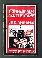 Ramon Melendez Cronicas Satiricas UPR 1981-1986 Puerto Rico 1991 1st Ed Signed