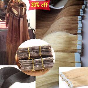 20-40-Stuecke-Remy-Echthaar-Haarverlaengerung-Tape-in-Extensions-Human-Hair-hcret