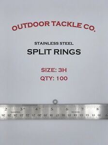 SIZE-3-HEAVY-DUTY-Split-Rings-100-Count-Stainless-Steel-USA-HD-Fishing-Tackle