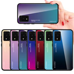 Pour Samsung Galaxy Note 10 Lite 9 8 S20 étui rigide arrière Verre ...