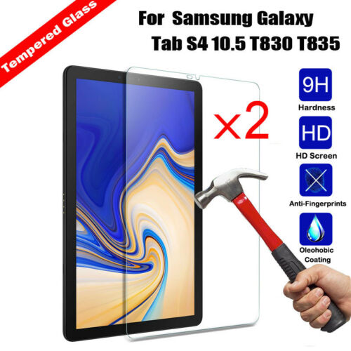 T835 2Pcs Tempered Glass Screen Protector For Samsung Galaxy Tab S4 10.5 T830