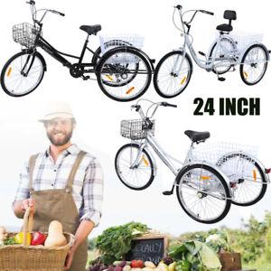 Ridgeyard-3-roues-24-034-tricycle-adulte-avec-panier-velo-3-couleurs-6-vitesses