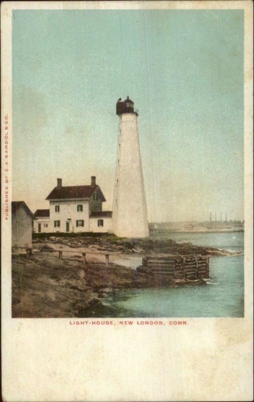 New London CT Lighthouse ED Bardol & Co Publ c1905 Postcard