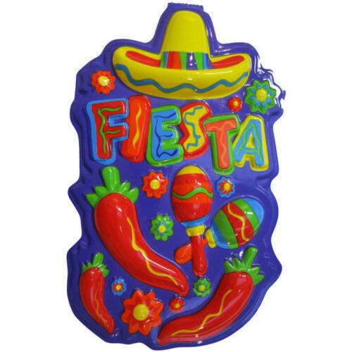 Wand-Deko Mexiko Party Fiesta Dekoration 60cm Bardekoration Chili Sombrero