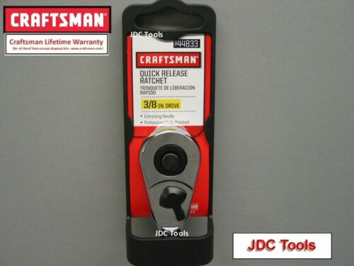 CRAFTSMAN HAND TOOLS 3//8 FULL POLISH LONG HANDLE ratchet socket wrench