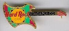 Hard Rock Cafe ACAPULCO 1990s Aztec GUITAR Gold Trim PIN - HRC Catalog #138